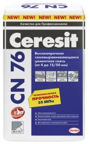 Наливной пол промышленный CN 76 ( 4 -15 / 50 мм) 25кг CERESIT