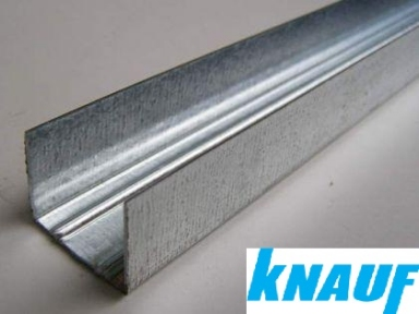 Профиль для гипсокартона направляющий УД (UD) 0,6мм KNAUF