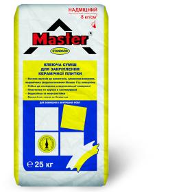 Клей для плитки СТАНДАРТ 25 кг MASTER