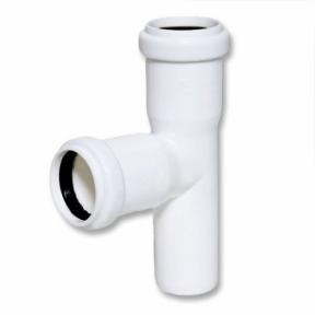 Тройник белый внутренней канализации Ø50/50х87° Safe OSTENDORF