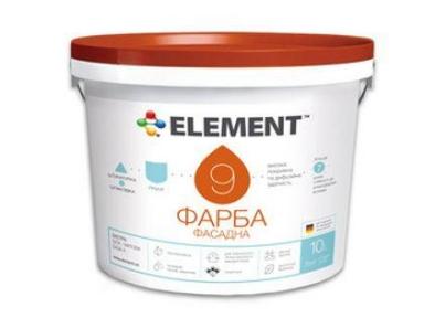 Краска фасадная 9 база С (прозрачная) 9,4л ELEMENT