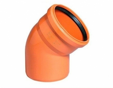 Колено наружной канализации 200х45° Safe OSTENDORF