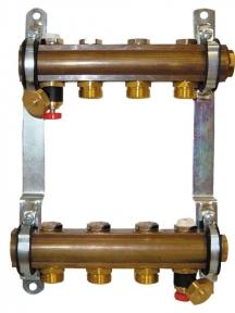 Штанговый распределитель коллектор для напольного отопления 1 8534 HERZ