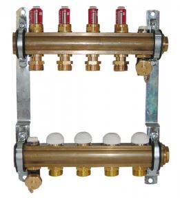 Штанговый распределитель коллектор для напольного отопления 1 8532 HERZ
