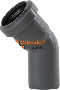 Колено канализационное Ø40мм 45° Safe OSTENDORF