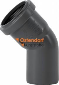 Колено канализационное Ø50мм 45° Safe OSTENDORF