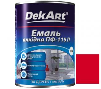 Эмаль алкидная ПФ-115П красная DEKART