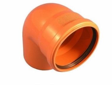 Колено наружной канализации 200х87° Safe OSTENDORF