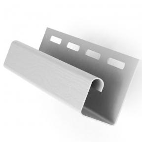 Планка J-TRIM белая 3, 66м  СОФФИТ