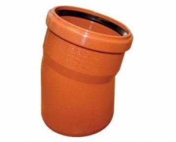Колено наружной канализации 110х15° Safe OSTENDORF