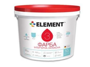 Краска 3 база А (белая) 10л ELEMENT