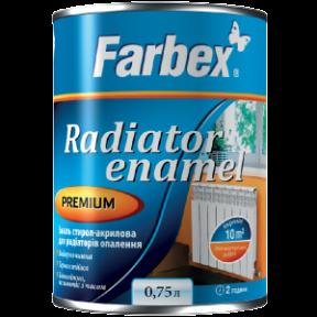 Эмаль акриловая для радиаторов отопления белый глянец FARBEX